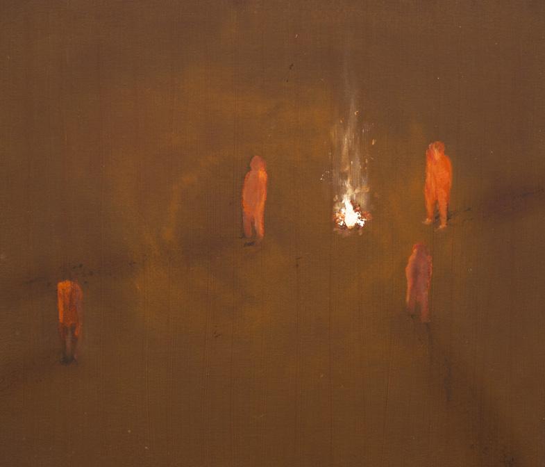 焚き火455×530 mm 油彩/キャンバス2014