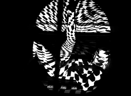 『THE BODY』「LIGHT CLOTHES 2 feat. MINTOMO& Maria Di Stella」より 2014 人体にプロジェクション・マッピング