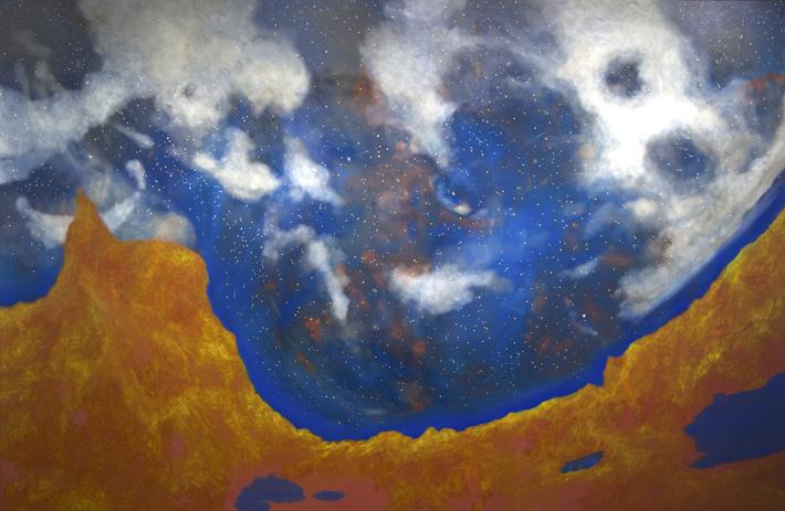 星夜 2182×3333 mm 油彩/キャンバス 2014