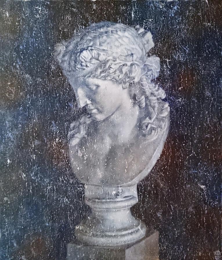 石膏像(2015)アクリル・F10キャンバス