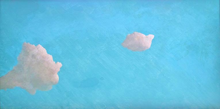 早朝の散歩 970×1940 mm 2005 油彩/キャンバス