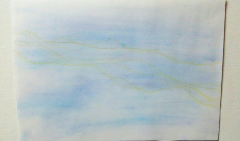 無題   紙にパステル、色鉛筆 2016